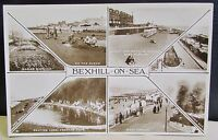 Old Town Multi View Real Photo Postcard - Bexhill On Sea East Sussex