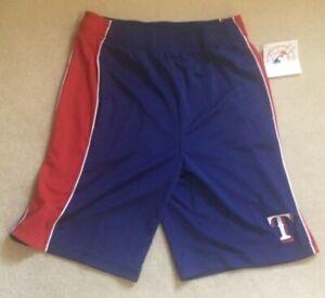 NEW MLB Texas Rangers Baseball Shorts Youth L Large 14 16 NEW NWT
