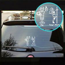 Me & Your Mom Family Sticker Stick People Sticker Funny Vinyl Decal Sticker