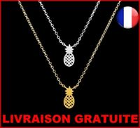 Collier Chaine Pendentif Mode ANANAS Pineapple Femme Fruits Cadeau Anniversaire
