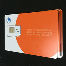 5  Pcs Of At&T Go Standard Size 3G Sim Card _New