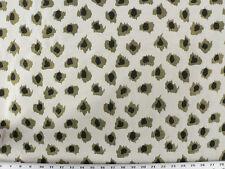 Drapery Upholstery Fabric Jacquard Animal Print Polka Dot Leopard - Black/Green