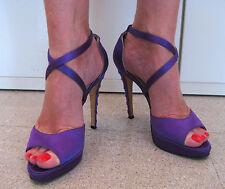 Sandali BRIAN ATWOOD Viola Raso 39 Purple Satin Sandals Heels