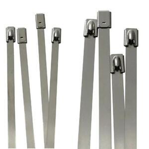 Edelstahl Kabelbinder 4,6mm 7,9mm Metall bis 500°C 46kg 114kg Zugfestigkeit