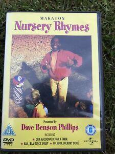 Makaton Nursery Rhymes, Rare UK  DVD, Dave Benson Phillips, Roger Dacier