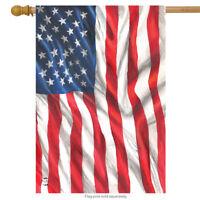 "American Flag Waving Patriotic House Flag USA Stars & Stripes 28"" x 40"""