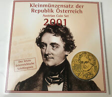 KMS Österreich 2001 handgehoben - letzter Schilling-Satz bevor Euro 2002 AT