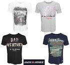 JACK AND & JONES HERREN T-SHIRT JJORMESSI TEE SS CREW NECK GR. S, M, L, XL, XXL