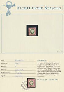 Helgoland 1873 Mi.Nr. 8**postfrisch auf Borek Vordruck 80,00 Euro.