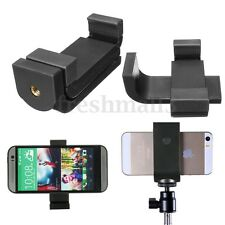 Smart Phone Camera Stand Clip Mount Holder Adapter Bracket For Tripod Monopod