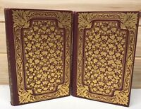 1919~Red Gold Books~Cook~Mediterranean~Ornate Bindings ILLUSTRATED 2 Book Set