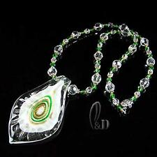 Au Seller Murano glass lampwork & Crystal necklace pendant 010762