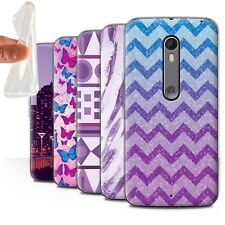 STUFF4 Gel/TPU Case/Cover for Motorola Moto X Pure Edition/Purple Fashion
