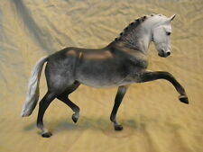 Breyer Horse Statue OOAK CM/Custom Totilas Warmblood Dark Dappled Gray