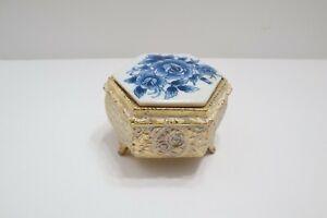 Vtg Porcelain San Francisco Music Box Co. Trinket Box