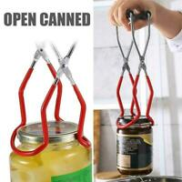 Anti-slip Canning Jar Lifter Tongs Stainless Steel Jar with Handles Lifter U9Z3