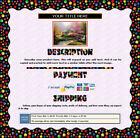 AUCTION TEMPLATE Colorful Balls Wavy Border Design Purple BG - Free Shipping