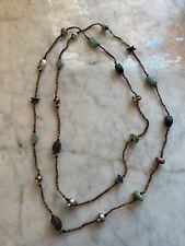 "Silpada  Howlite, Copper, Jasper, Wood 60"" Long Necklace N1569 Retired! $99"