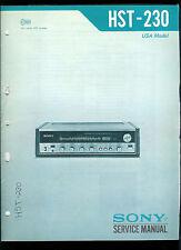Rare Original Factory Sony HST 230 AM FM Stereo Receiver Service/Repair Manual