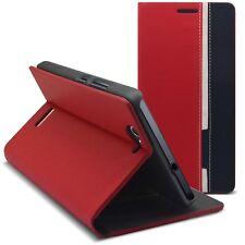 Carcasa Funda Folio Para Wiko Gateway Monaco Diseño Rojo/Azul