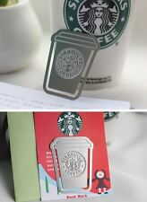 1 Starbucks Coffee Cup Cafe Metal Bookmark Cute Clips Office School Supply Gift
