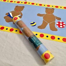 Village Wallpaper Border Teddy Bear Ball Duck Toy Nursery Wallpaper 5 Yds Blue