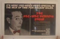 Pee Wee Herman Poster Trade Ad Show Video Special Paul Reubens Peewee
