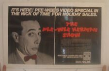 Pee Wee Herman Poster Trade Ad Show Video Special Paul Reubens Peewee