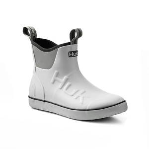HUK Rogue Wave Men's Ankle Deck Boot-Fishing Boating - White - Free Ship