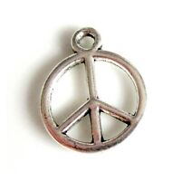 10 Breloques _ PEACE AND LOVE 14,5x12mm _ Perles charms créat bijoux brac _ B687