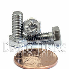 5mm / M5 x 12mm - Qty 10 - Stainless Steel Hex Cap Bolt / Screw 0.80 DIN 933 A2
