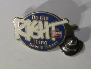 Vintage Rare Do The Right Thing Wendys Daves Legacy Fast-food Restaurant htf Pin