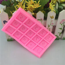 Silicone 0-9 Numbers Blocks Birthday Party Cupcake Topper Fondant Cake Mold