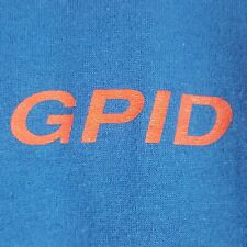 Vtg 80s Gpid Work T-Shirt M Blue Grants Pass Irrigation District Oregon Employee