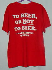 """Spencer's Mens T-Shirt Size L To Beer Or Not To Beer, That's A Stupid Question"""""""