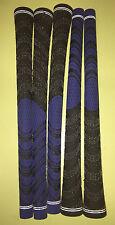 DIY Golf Regripping kit 9 Grips+Tape+Instructions HALF CORD BLUE BLACK D