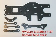 Hpi Baja 5B / 5bss 5T CARBONE Parti set 2 TUNING HD Full Carbon 6 pezzi