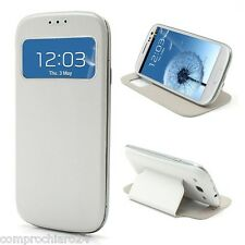 Funda Blanca S-View envoltura para Samsung S3 - Tapa del tirón Case