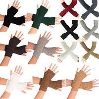 Fashion Unisex Winter Warm Knitted Gloves Fingerless Long / Wrist Gloves Mitten