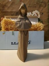 Retired Lladro Monk Figurine - No. 2060 Montje with Original Box and Straw Fill