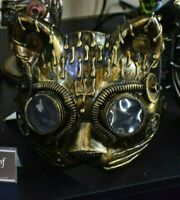 Kinetic Kitten Cat Steampunk Mask Face Adult Fancy Dress Masquerade Gothic Party