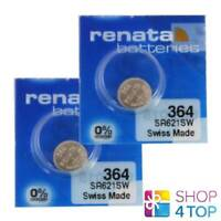 2 RENATA 364 SR621SW BATTERIES SILVER 1.55V WATCH SWISS MADE EXP 2021 NEW