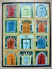 "Ceramic tile art Mosaic wall mural andalusian antique doors BACKSPLASH 18"" x 24"""