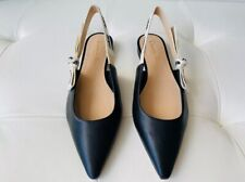 DIOR J'ADIOR Black Leather Slingback Flats Shoes 37
