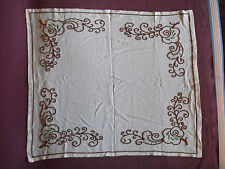 #1368 Beautiful Vintage Hand Embroidered Tablecloth 71cm/60cm(28'x24')