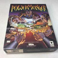 "Vintage Power Monger IBM 3.5"" Floppy MS DOS PC Computer Game Big Box RARE"