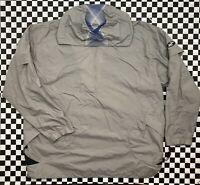 VTG Y2k Nike Pullover 1/4 Zip Abstract Windbreaker Jacket Mens XL Grey Blue Rare
