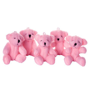 NEW - Pink Teddy Bears - Small Cute Soft Cuddly  - Gift Present Birthday Xmas