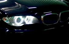 FARI ANGEL EYES CROMO A LED PER BMW E46 COUPE RESTYLING 03-06
