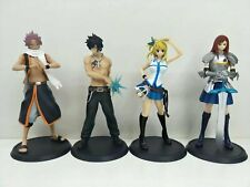 4pcs Fairy Tail Lucy Heartfilia Erza Scarlet Gray Fullbuster & Natsu Figures Set